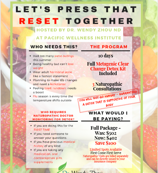 Join our naturopathic doctor for a 10 day detox program